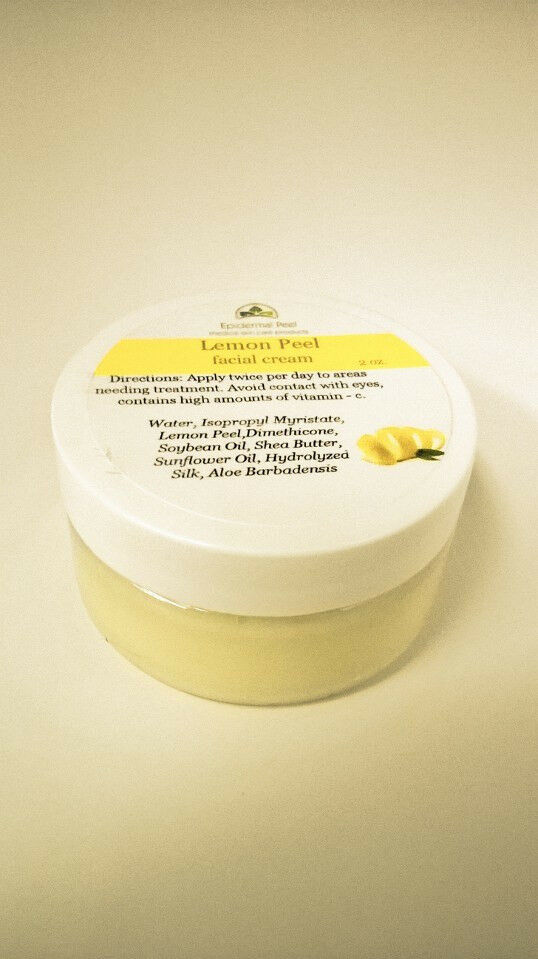 2 Oz. Jar Epidermal Peel Real Lemon Facial Cream Vitamin C One & Only Strong