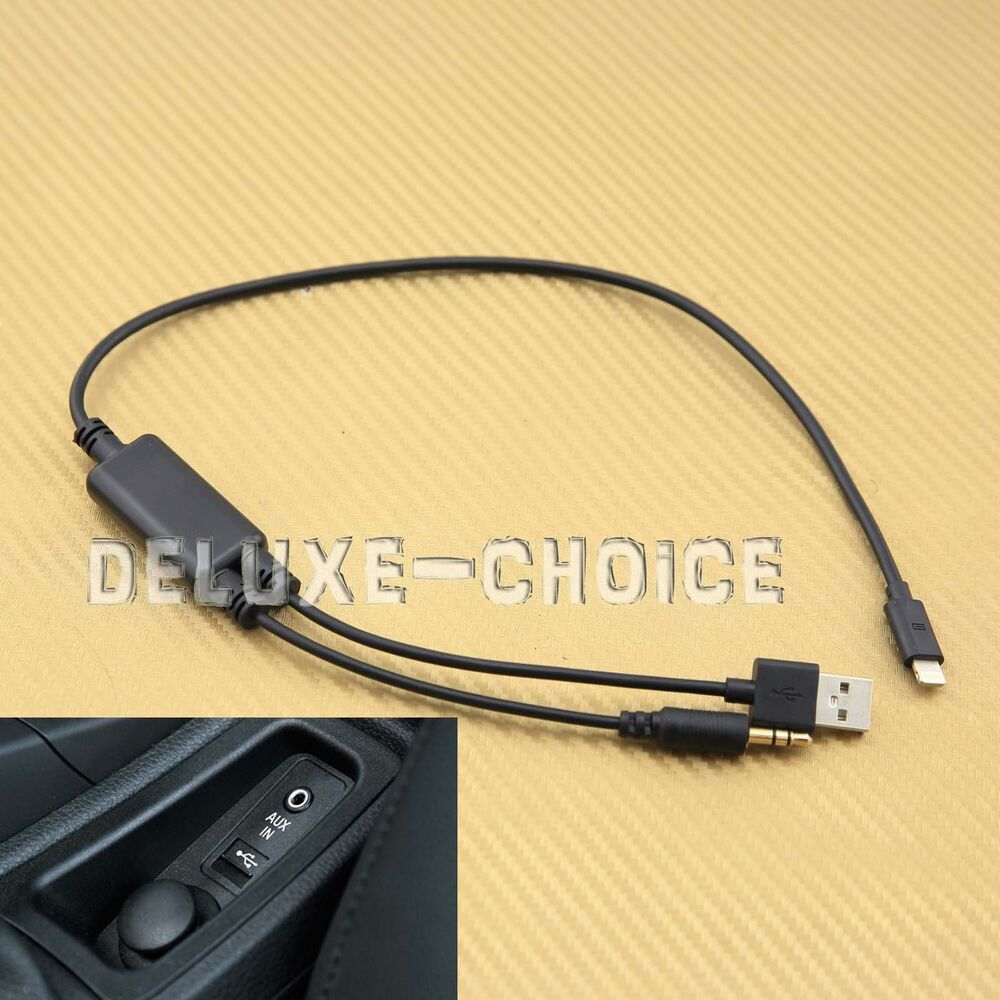 Audio Interface Adapter Cable For Iphone 5 6 7 Plus For Bmw Mini Cooper Ebay