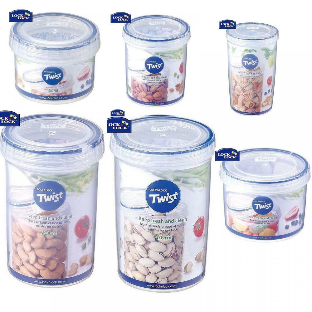 Lock & Lock Round Twist Lid Food Storage Plastic 100