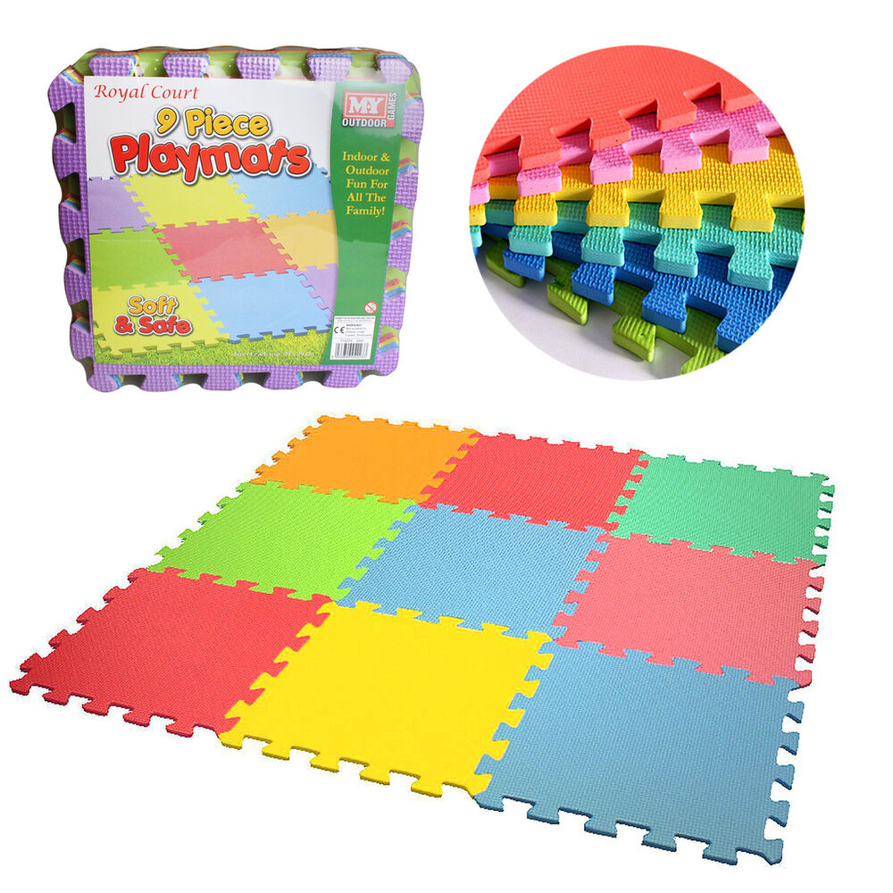 Kids Eva Foam Interlocking Play Mat Soft Playmat Set Tiles