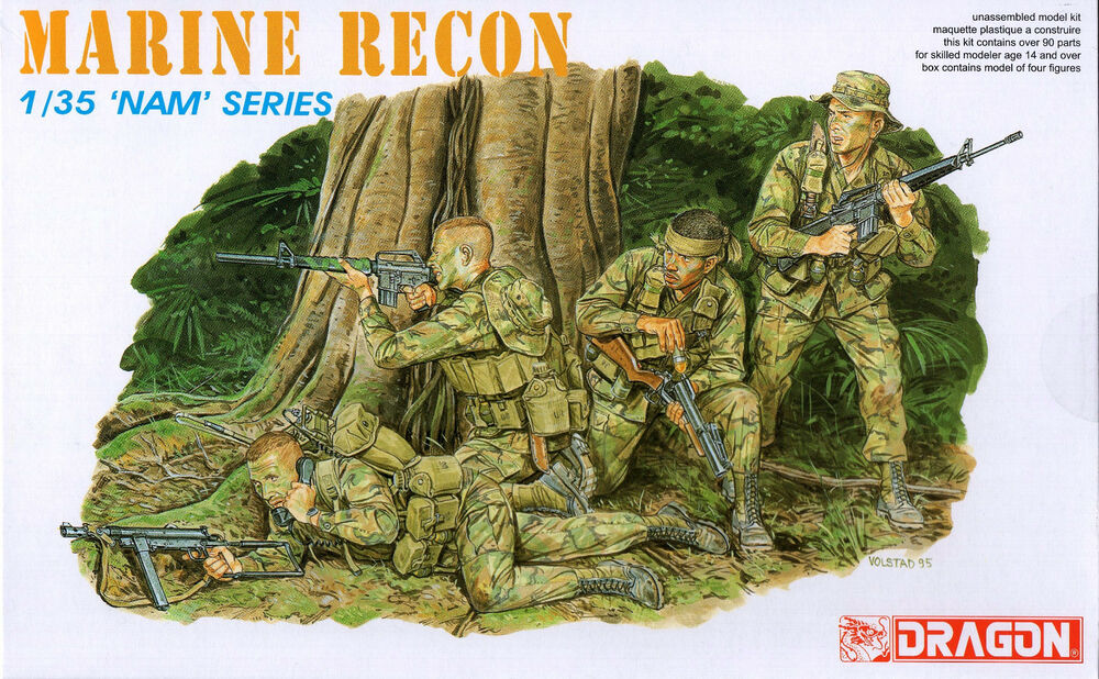 Dragon 1 35 3313 Us Marine Force Recon Vietnam War Nam