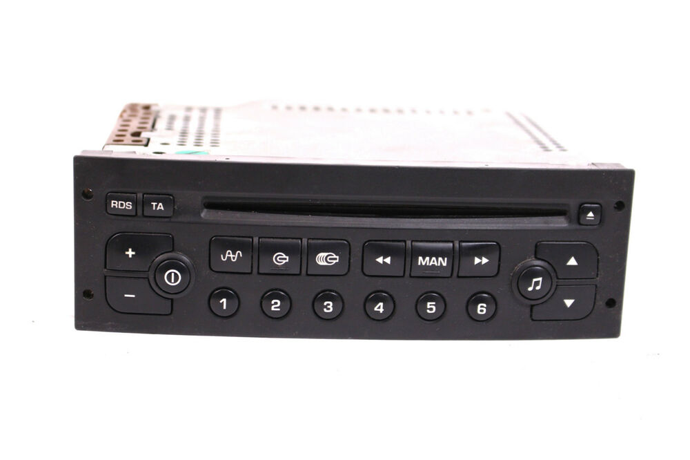 cd autoradio peugeot 206 307 citroen c3 96545978 vdo player clarion radio ebay. Black Bedroom Furniture Sets. Home Design Ideas