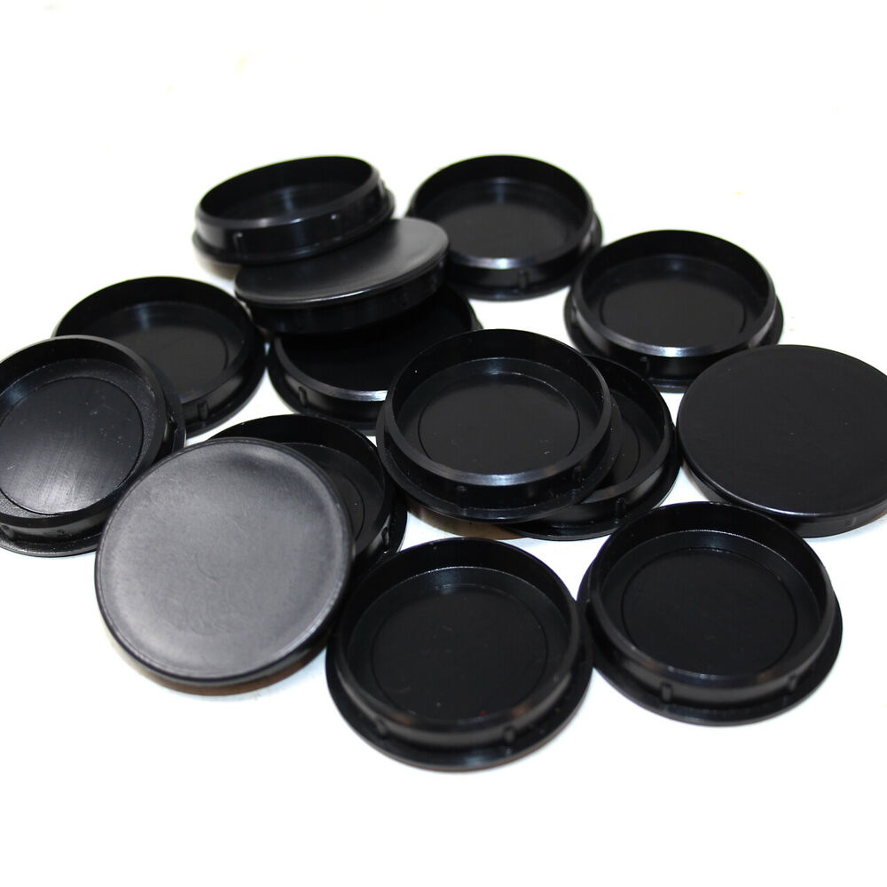 35mm Black Plastic Hinge Hole Cover Caps For Kitchen
