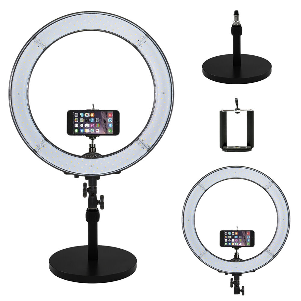 """Ring Light Stand Ireland: Prismatic LED Halo 18"""" Ring Light With Weighted Light"""