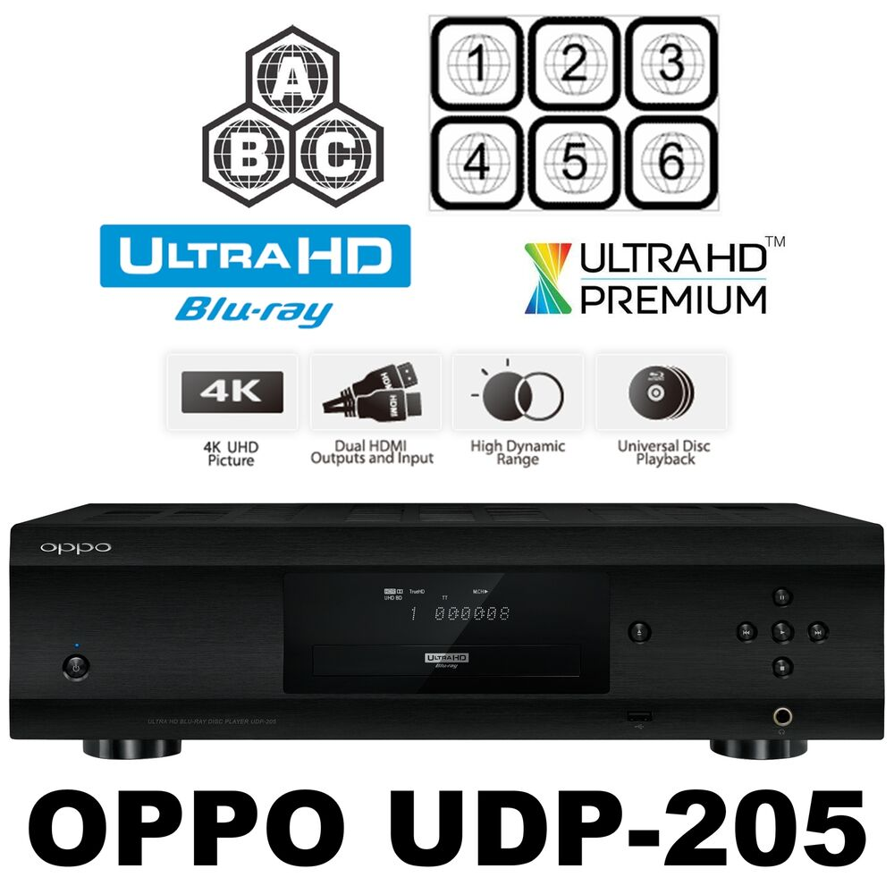 oppo digital udp 205 multi code region free 4k ultra hd. Black Bedroom Furniture Sets. Home Design Ideas