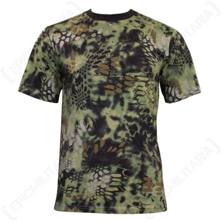 img-Mandra Woodland Camo T-Shirt - Camouflage Military Army Soldier Airsoft Green