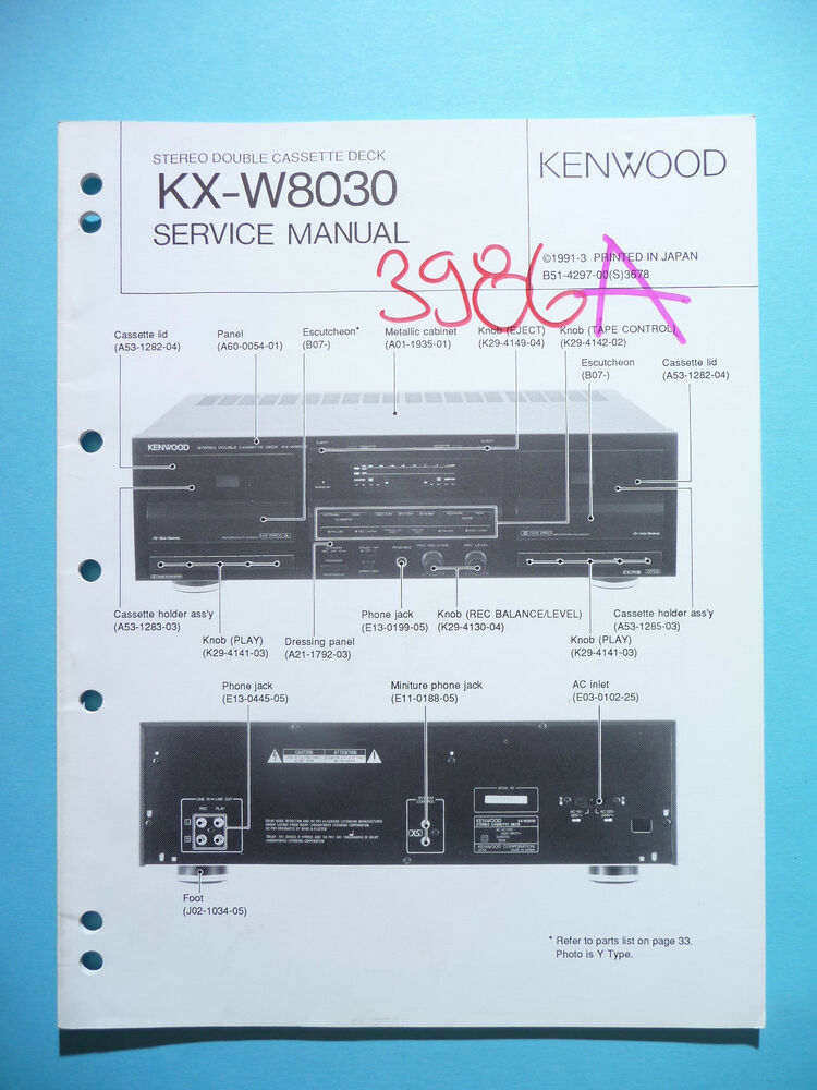 Service Manual Instructions For Kenwood Kx