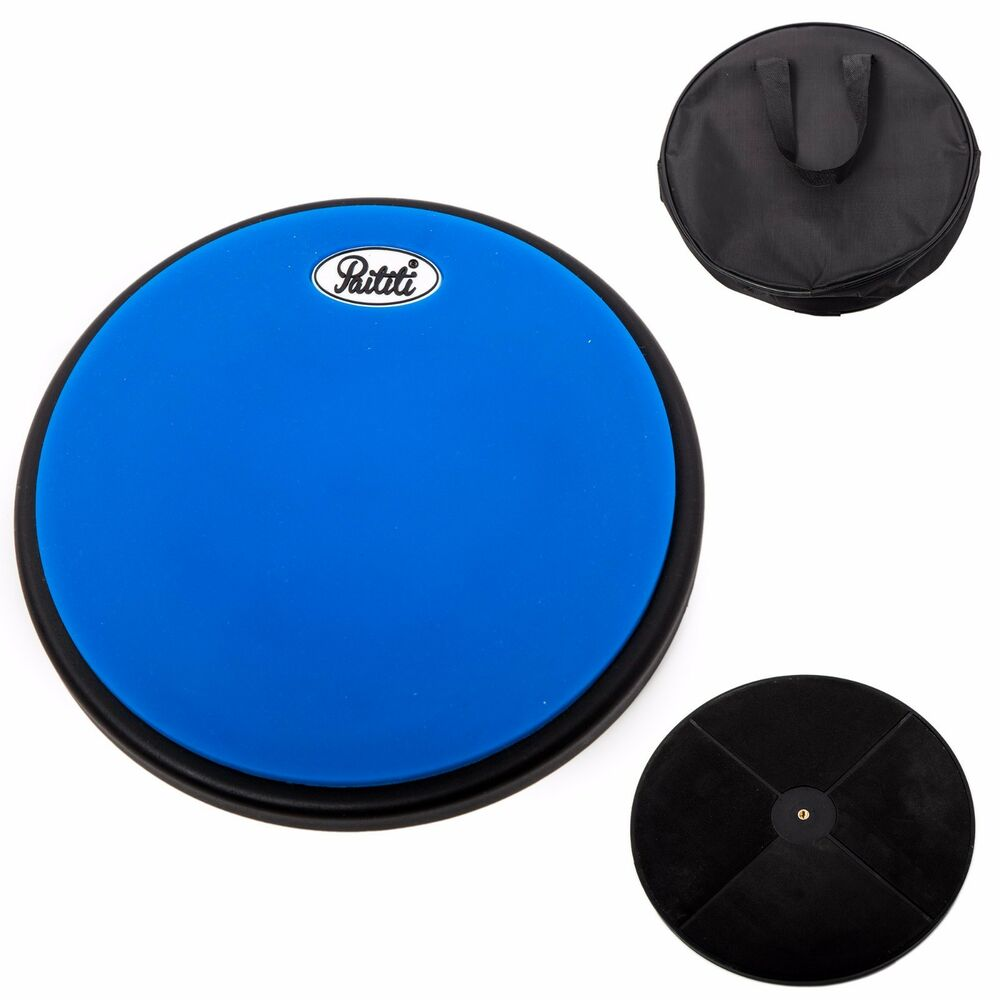 paititi 8 inch silent practice drum pad round shape with carrying bag blue color 745313289994 ebay. Black Bedroom Furniture Sets. Home Design Ideas
