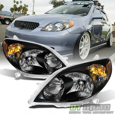 For Blk 2003-2008 Toyota Matrix Headlights Healamps Replacement 03-08 Left+Right