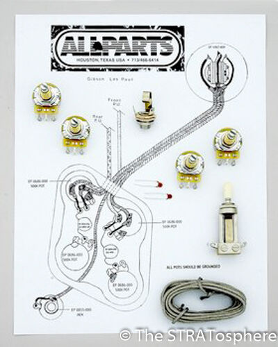 New Les Paul Pots Switch  U0026 Wiring Kit For Gibson Guitar