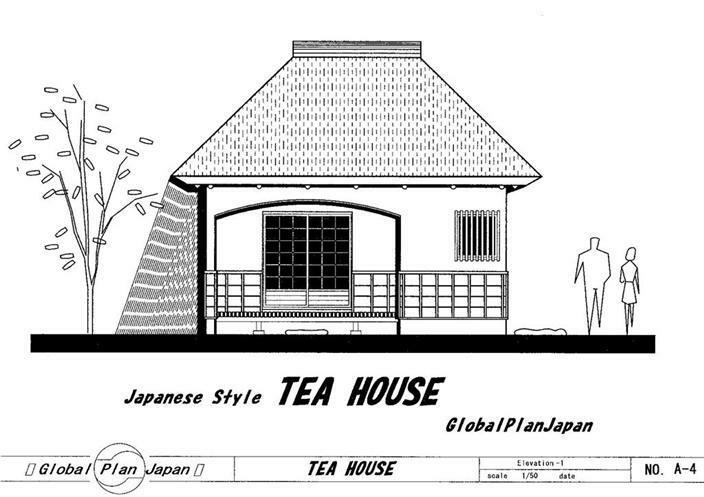 Old Style Japanese Traditional House Plan Tea House