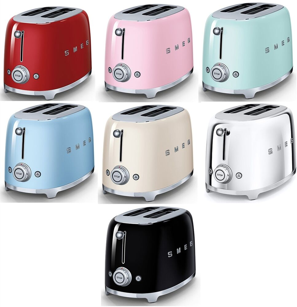 Smeg Retro Style 2 Slice Toaster 950w Electric Choose From