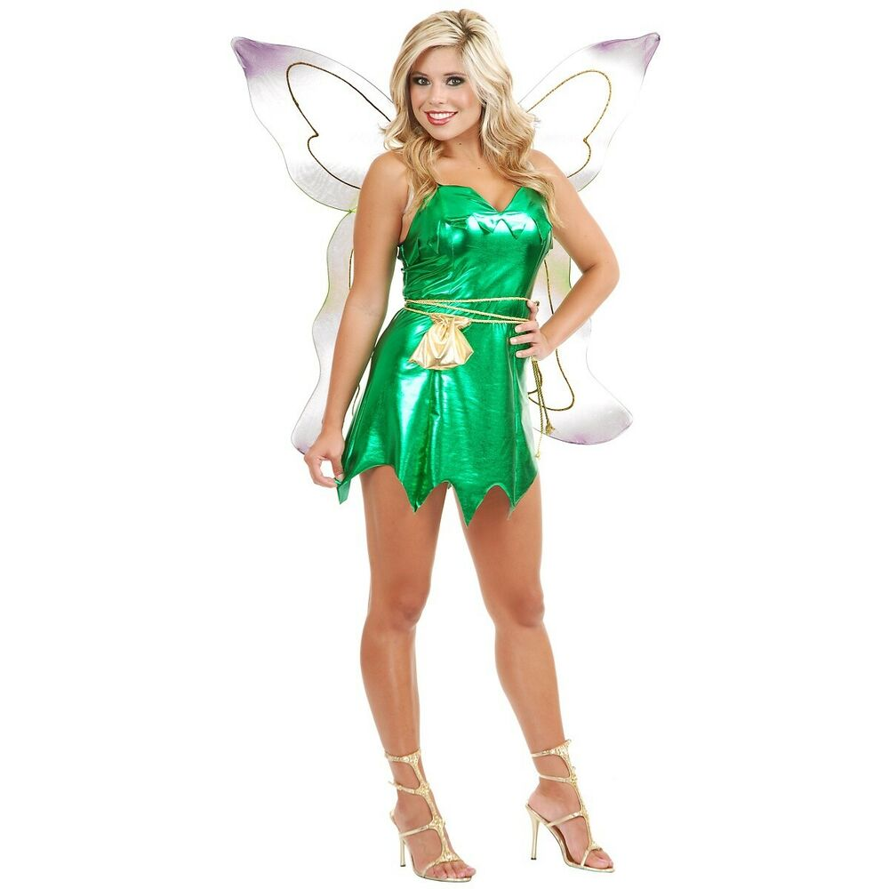 Tinker Bell Tinkerbell Fairy Pixie Peter Pan Costume ...