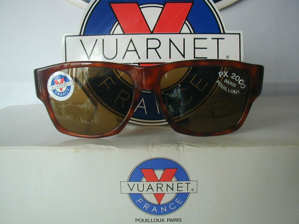 Details about Vintage VUARNET Sunglasses Classic Rectangle 2091 091 BROWN  w/PX2000 Lens Unisex