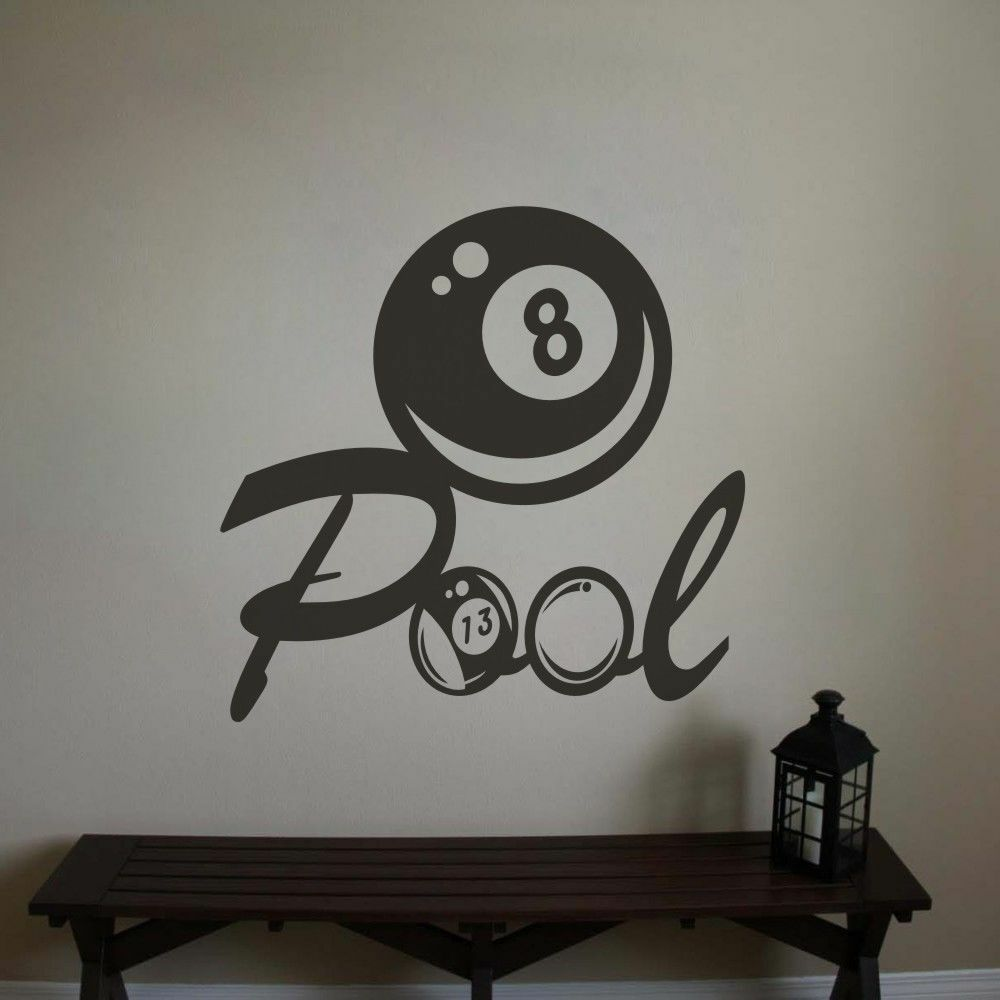 Inspiration Billiard Wall Sticker Sports Game Home