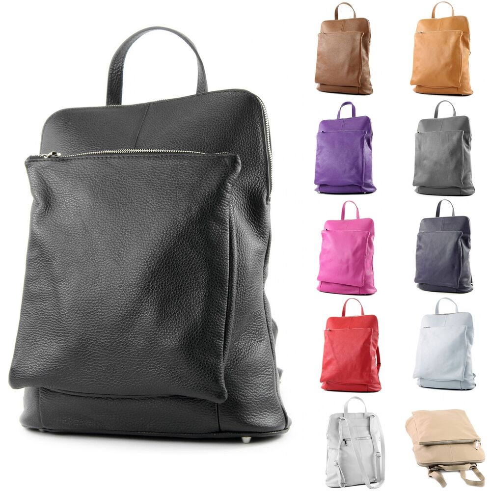 ital lederrucksack damen rucksack rucksacktasche 3in1 citytasche leder t141 ebay. Black Bedroom Furniture Sets. Home Design Ideas