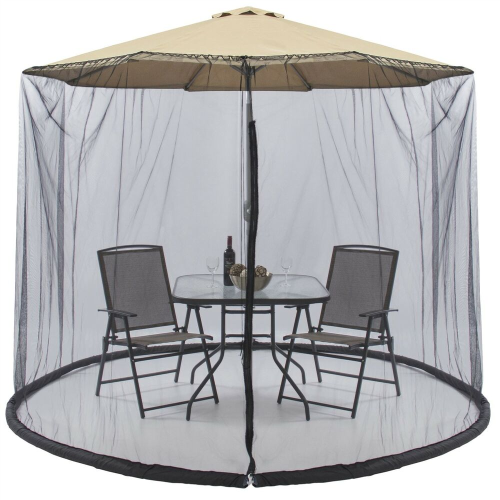 Umbrella Table Screen Enclosure Net Cover Keep Bugs