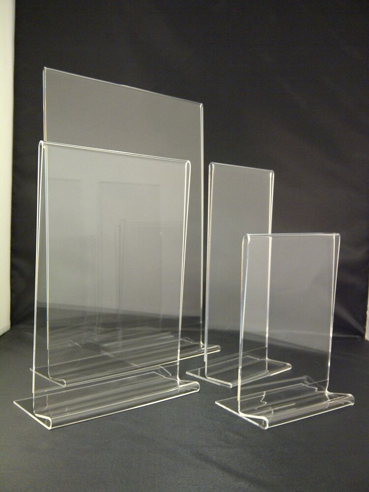 Double Sided Acrylic Poster Menu Holder Perspex Leaflet