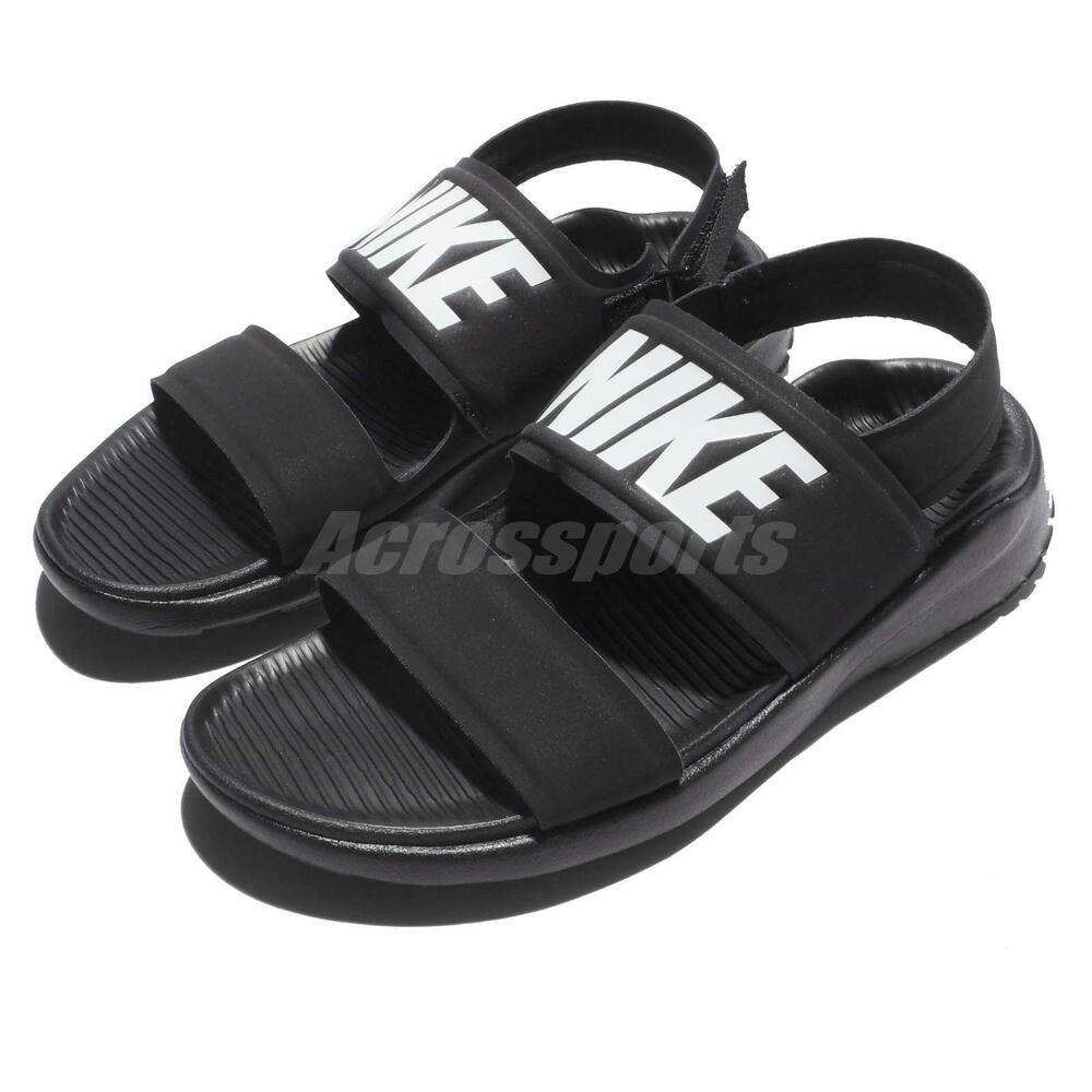 Wmns Nike Tanjun Sandal Black White Womens Fashion Sandals ...