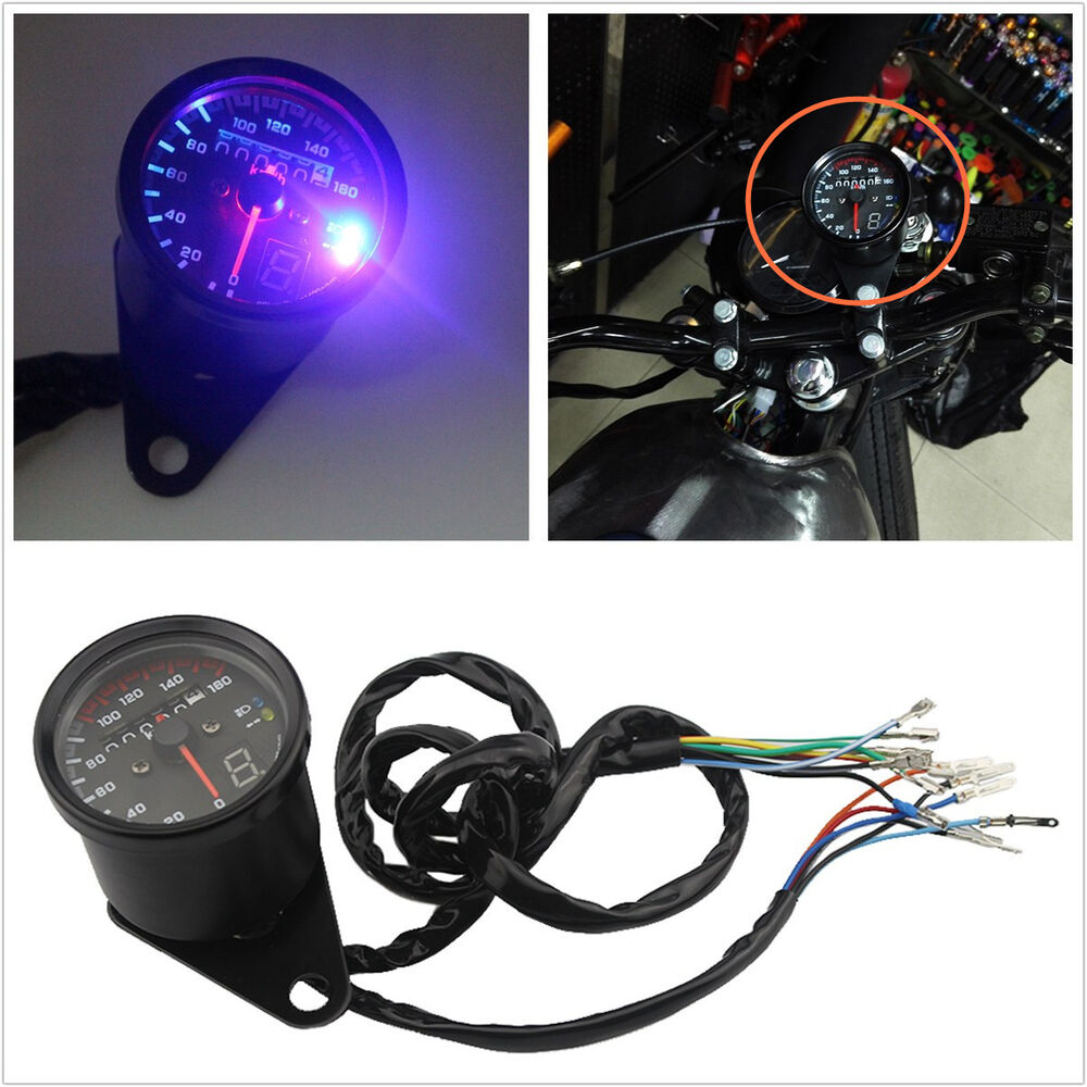 Red Led Light Digital Motorcycle 6 Gear Indicator Kit Durable Fit