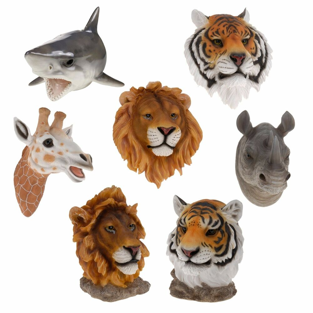 large wall mount hang animal head ornament decoration realistic display resin ebay. Black Bedroom Furniture Sets. Home Design Ideas