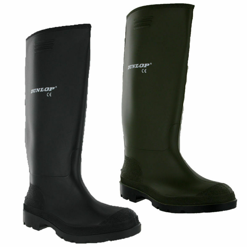 dunlop gummistiefel herren gummistiefel schnee schwarz gr n uk6 12 ebay. Black Bedroom Furniture Sets. Home Design Ideas