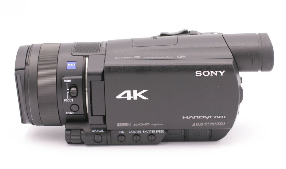sony fdr ax100 4k ultra hd camcorder black 27242877542 ebay. Black Bedroom Furniture Sets. Home Design Ideas