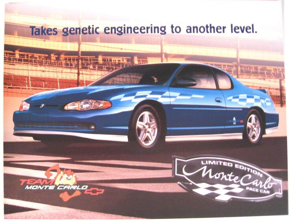 Details About 2003 Chevy Ss Monte Carlo Nascar Pace Car Brochure Hero Sheet Original Gm Mint