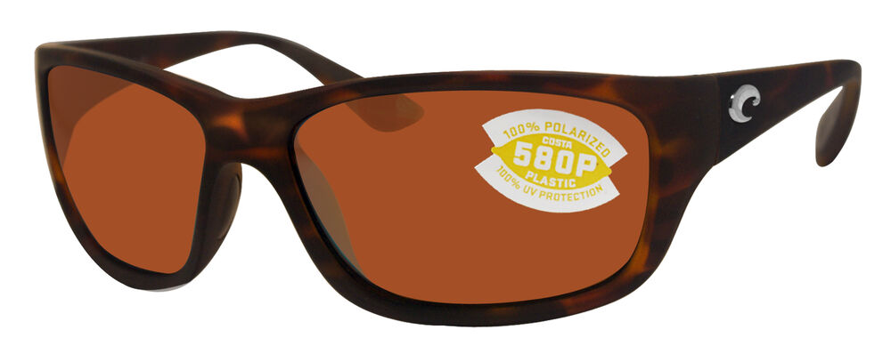 92769b0586 Details about Costa Del Mar Tasman Sea Retro Tortoise Frame Copper 580P  Plastic Polarized Lens