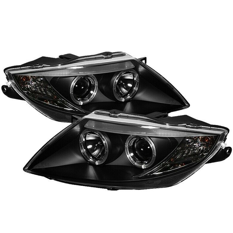For 2003 2008 Bmw Z4 Twin Halo Projector Headlights Black