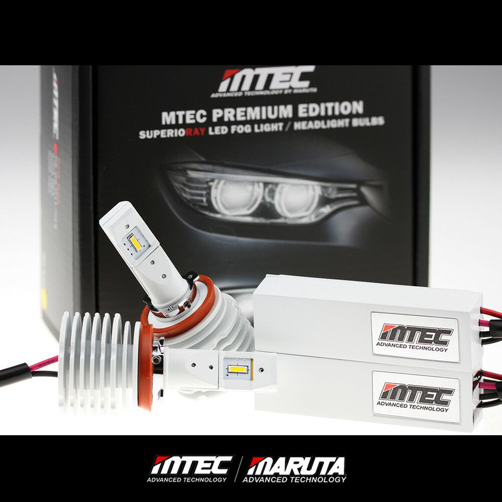 Mtec 6000k H8 H9 H11 Led Fog Light 6200 Lumen Canbus