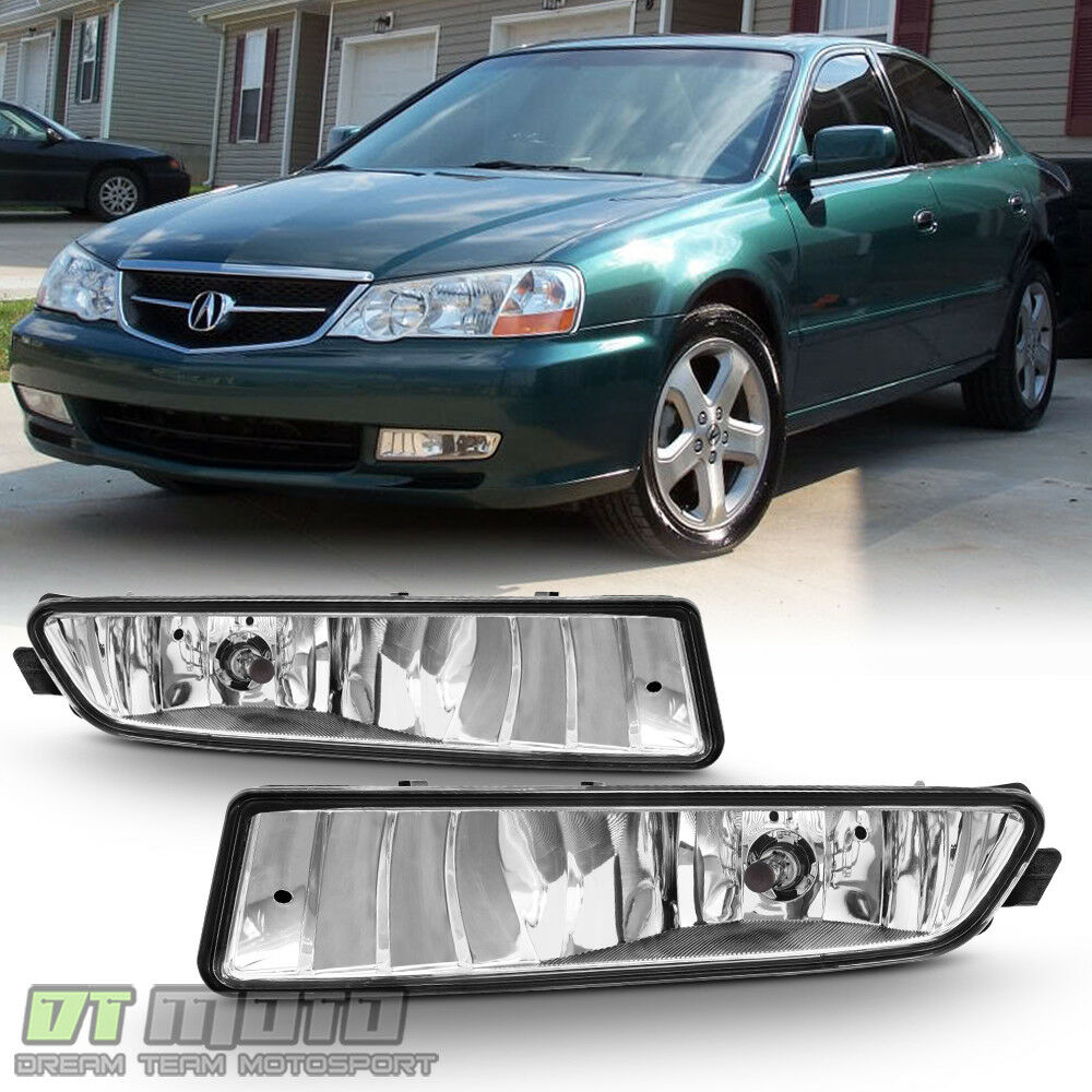 2002-2003 Acura TL Bumper Fog Lights Driving Lamps+Bulbs aftermarket Pair 02-03  | eBay