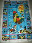 Linen Tea Towel Barbados Island In The Sun By Lamont