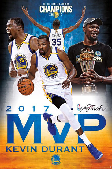 KEVIN DURANT 2017 NBA FINALS MVP Golden State Warriors Commemorative Wall POSTER | eBay