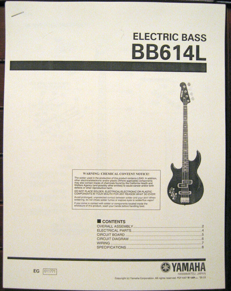 Stagg Bass Guitar Wiring Diagram Library Manual Schematics Parts All About Diagrams Yamaha Bb614l Left Hand 4 String Electric Service List Ebay