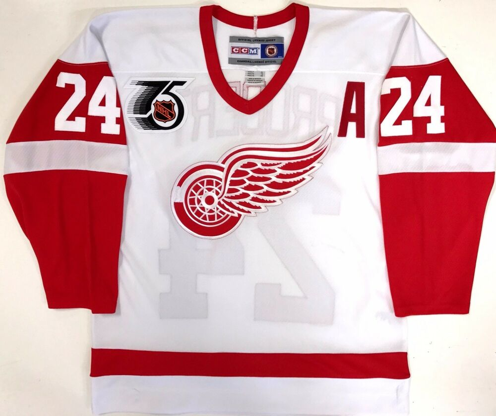 Details about BOB PROBERT 1991 NHL 75TH ANNIVERSARY CCM REPLICA DETROIT RED  WINGS JERSEY NEW 99f24bec6