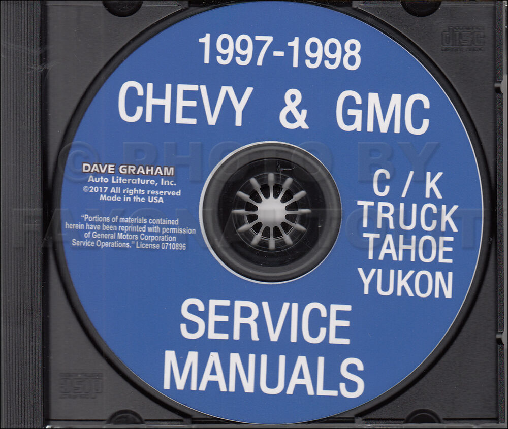 1998 GMC Chevy CK Truck Shop Manual CD Pickup Suburban Tahoe Yukon Service  | eBay
