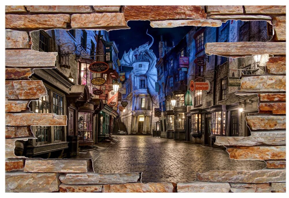 Harry Potter Diagon Alley Rock Wall Decal Graphic Wall