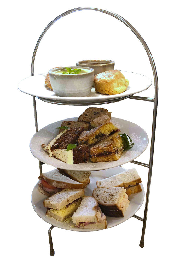 2 3 Tier Stainless Steel Afternoon Tea Stand Cake