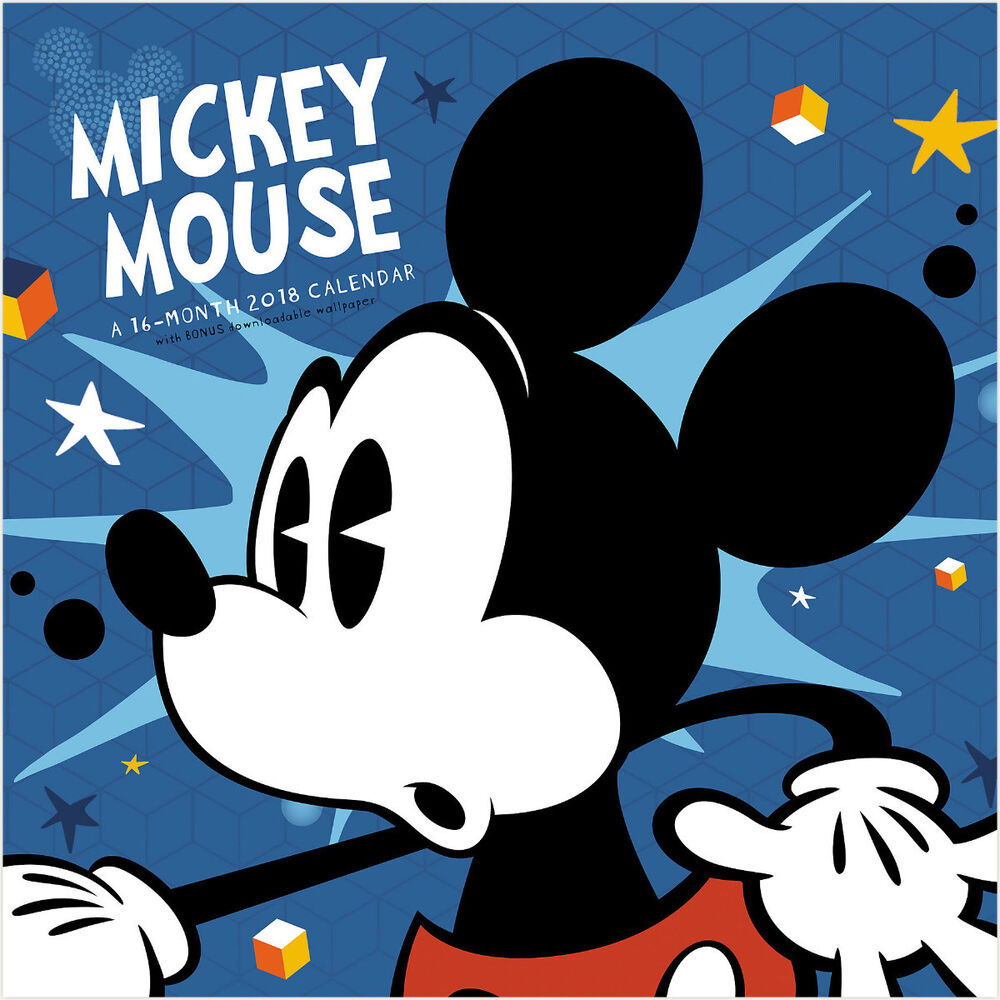 Walt Disney Classic Mickey Mouse 16 Month 2018 Wall ...