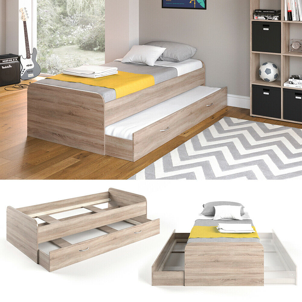 vicco kojenbett enzo jugendbett g steliege funktionsbett sonoma eiche 90x200 cm ebay. Black Bedroom Furniture Sets. Home Design Ideas