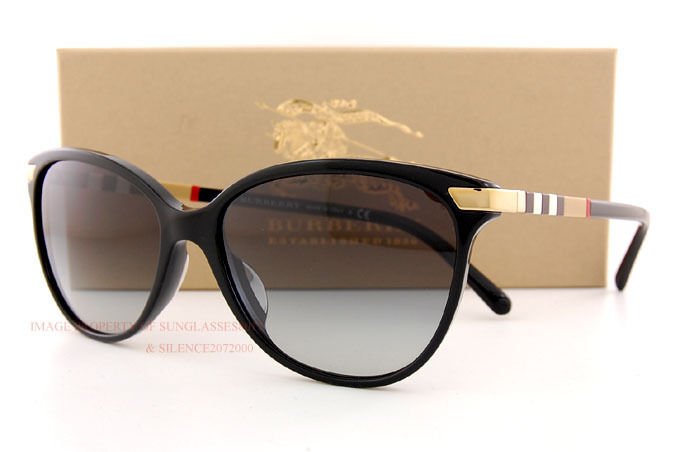 d2a0727ac6 Brand New Burberry Sunglasses BE 4216 3001 8G Black Grey Gradient for Women