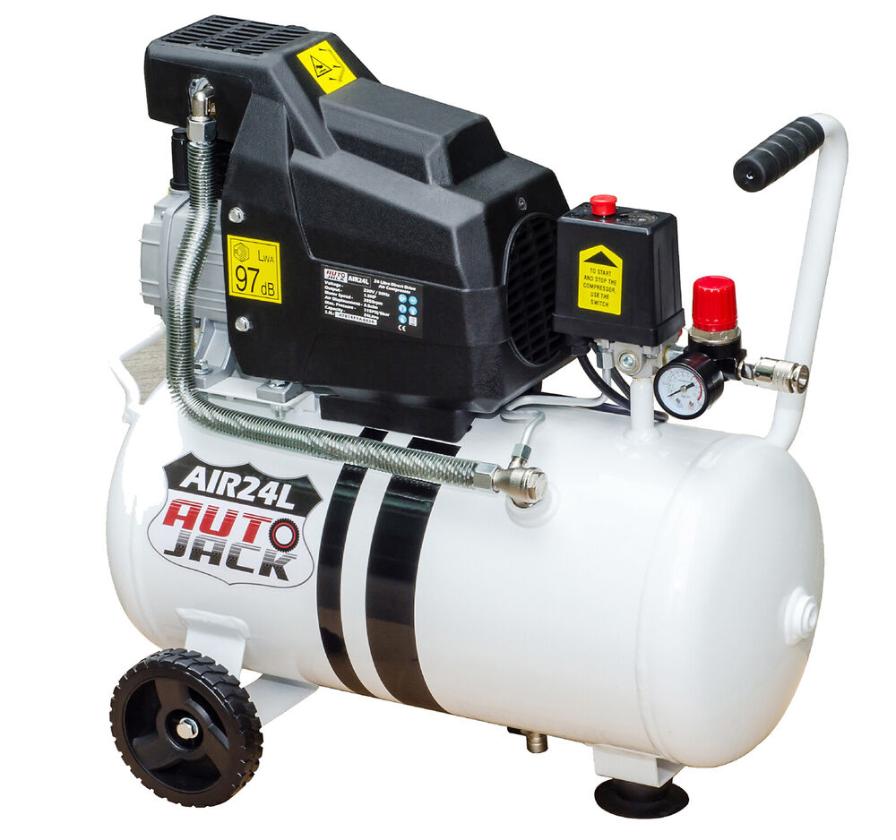 Air Compressor 24l Litre 240v Direct Drive 1 5 Hp 8 Bar