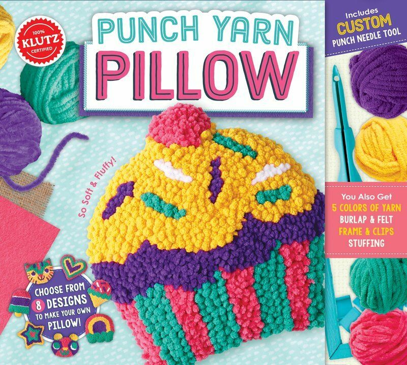 Punch Yarn Pillow Choose From 8 Designs Make Your Own Kids Klutz