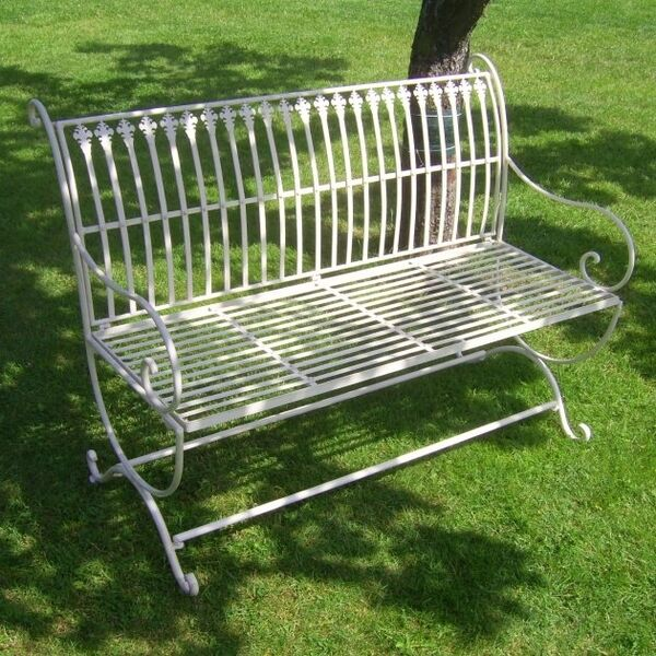 garden bench vintage country house style new furniture metal park iron ebay. Black Bedroom Furniture Sets. Home Design Ideas