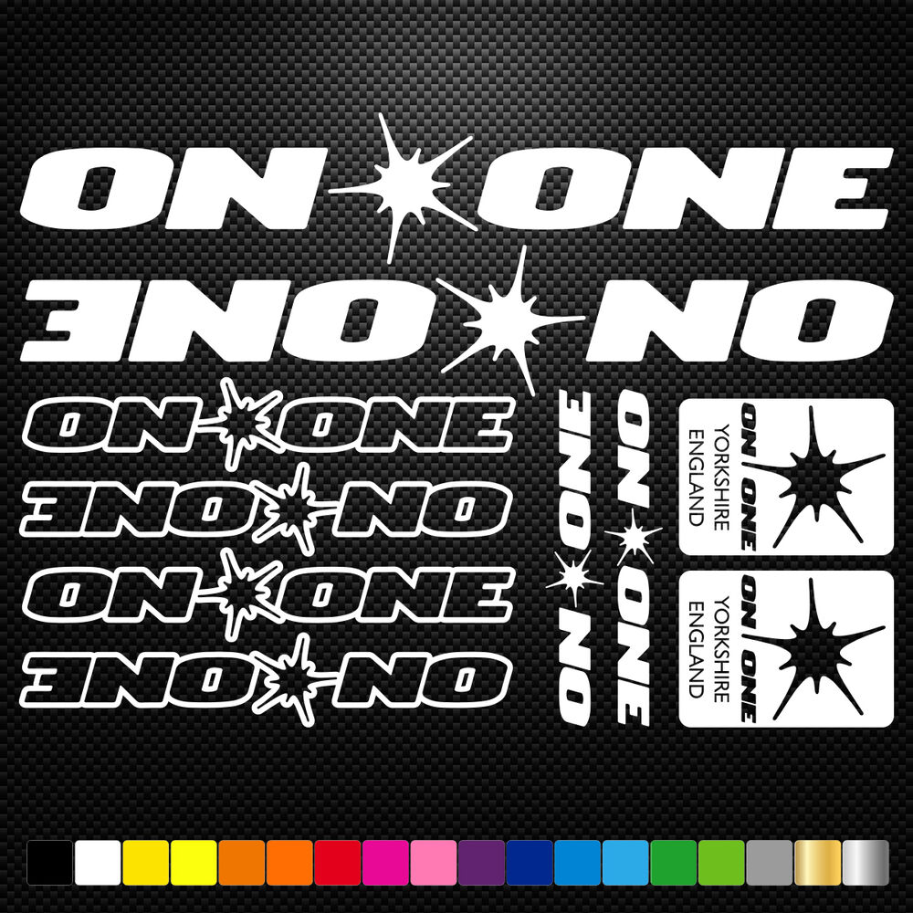 Details about on one bikes vinyl decal stickers sheet frame cycle cycling bicycle mtb road
