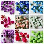 10Pcs Various Artificial Silk Fake Rose Flower Heads Bulk Wedding Party Decor