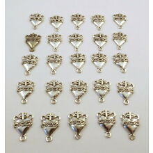 25 Pewter SACRED HEART ROSARY CENTERS -5116