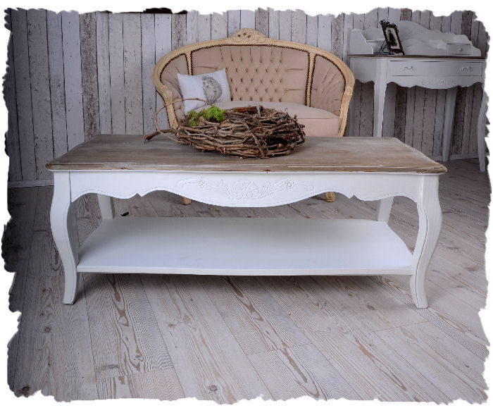 table basse shabby chic salon table d 39 appoint blanc table. Black Bedroom Furniture Sets. Home Design Ideas