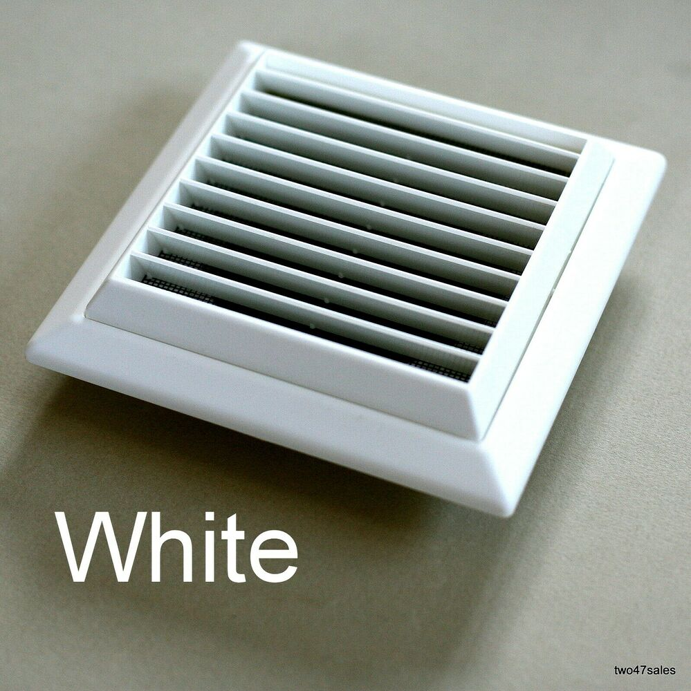 External White Vent Grille Wall Ventilation Extractor